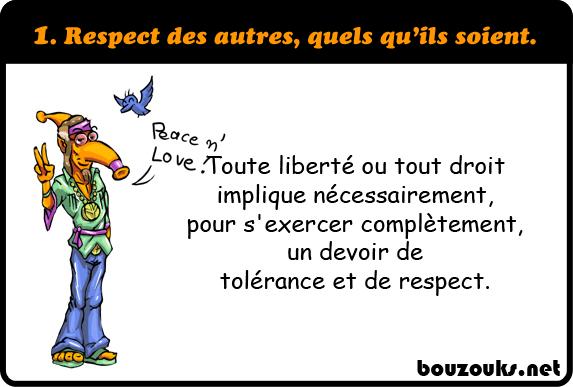 Respect des autres